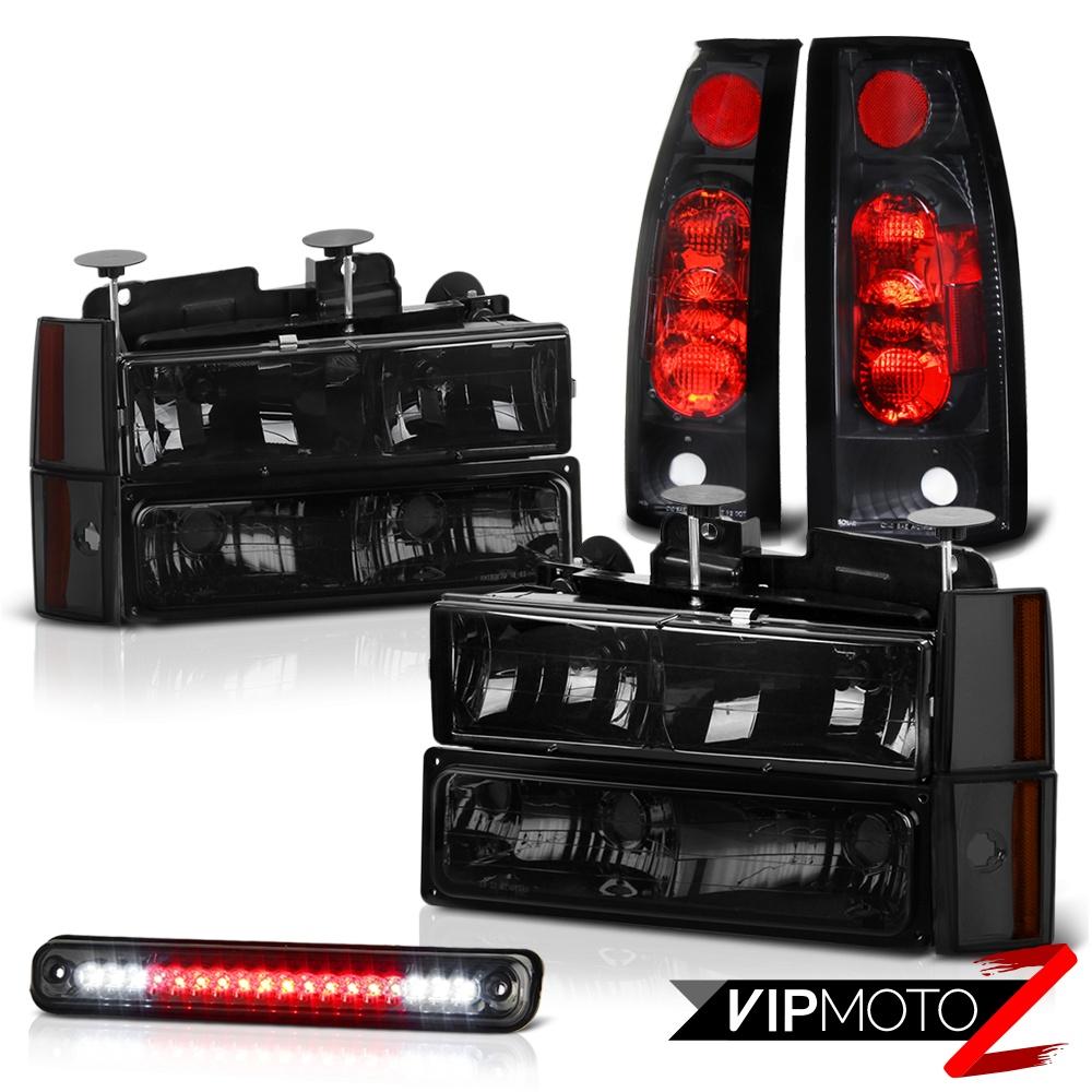 88-93 Chevy C/K 1500 2500 3500 Smoke LED 3RD Cab Tail