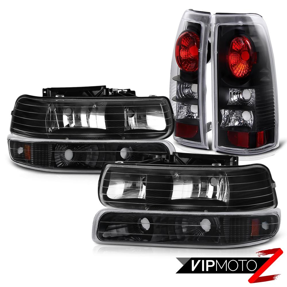 1999 2002 chevy silverado 1500 2500 black headlights bumper signal lights ebay