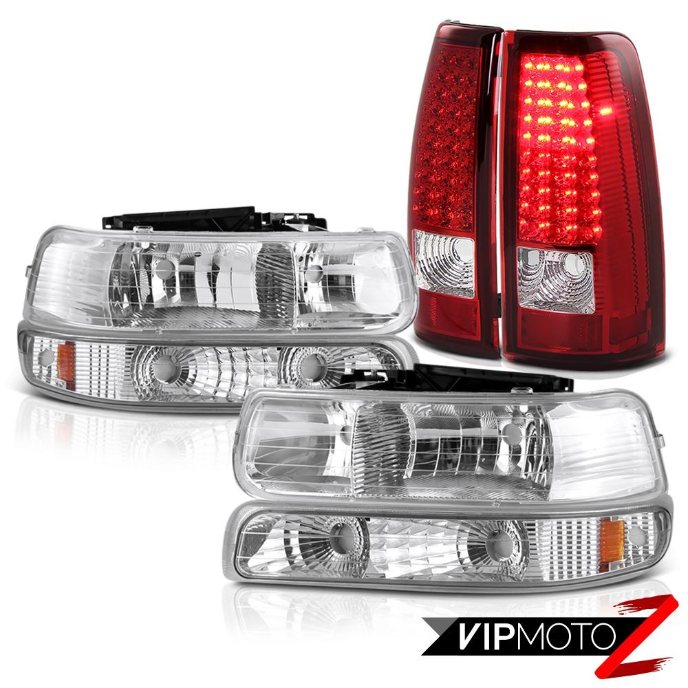 1999 2000 2001 2002 chevy silverado signal bumper headlights led taillights