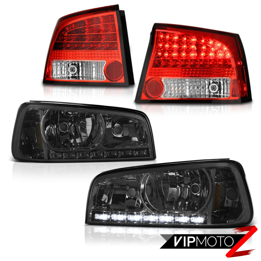 2006 2007 2008 dodge charger smoke led drl strip headlight. Black Bedroom Furniture Sets. Home Design Ideas