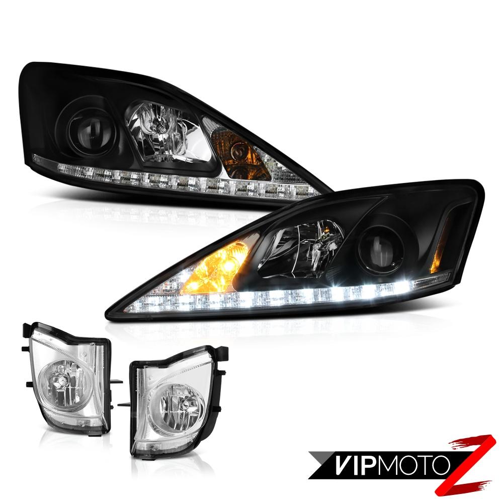 2006 2009 Lexus Is250 Is350 Black Led Drl Headlights