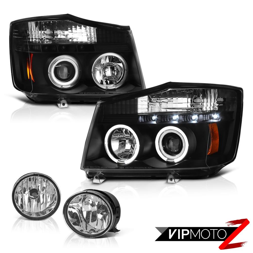 for 2004 2015 titan 4x4 led projector headl headlight clear driving foglight ebay