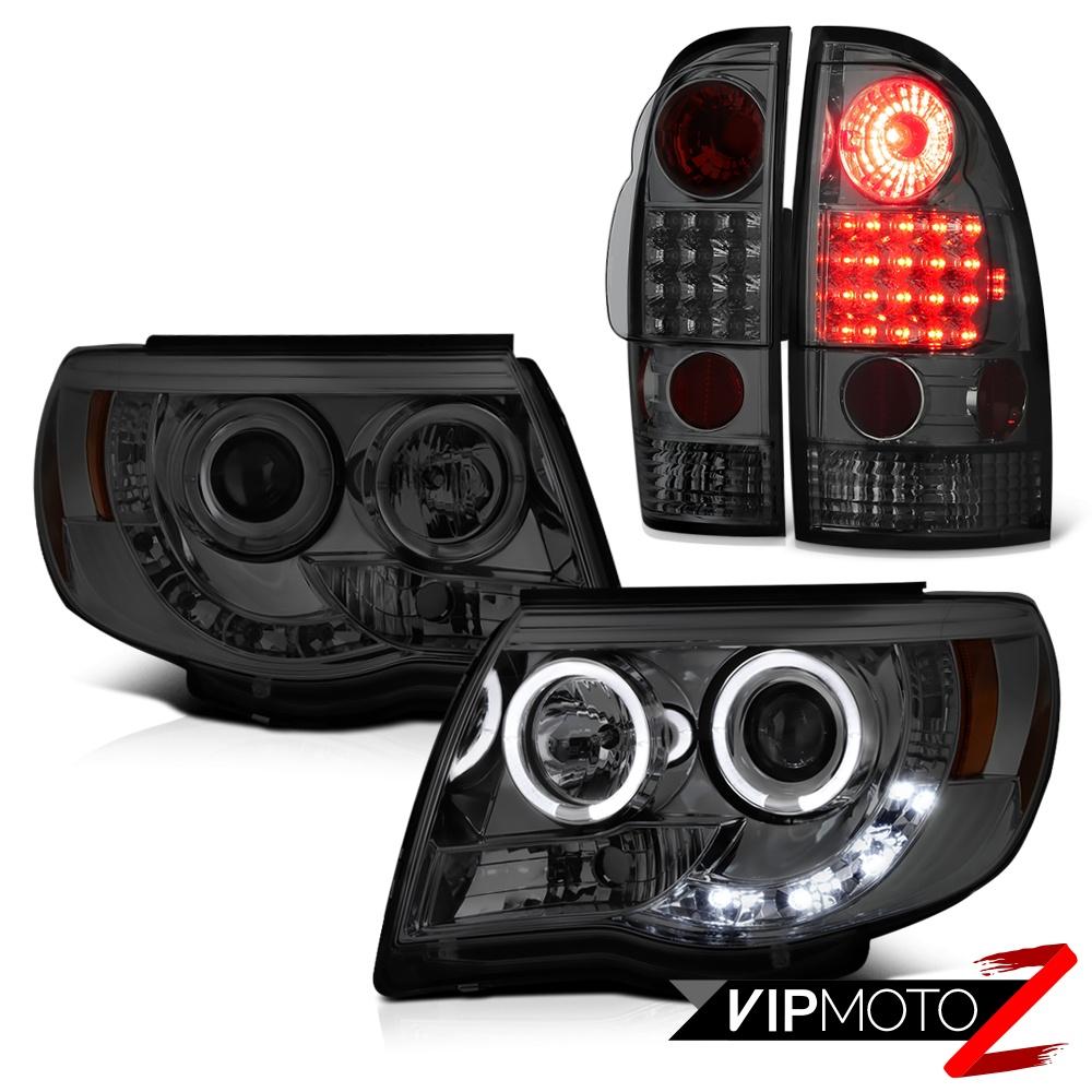 2005 2011 toyota tacoma smoke halo rim led headlights. Black Bedroom Furniture Sets. Home Design Ideas