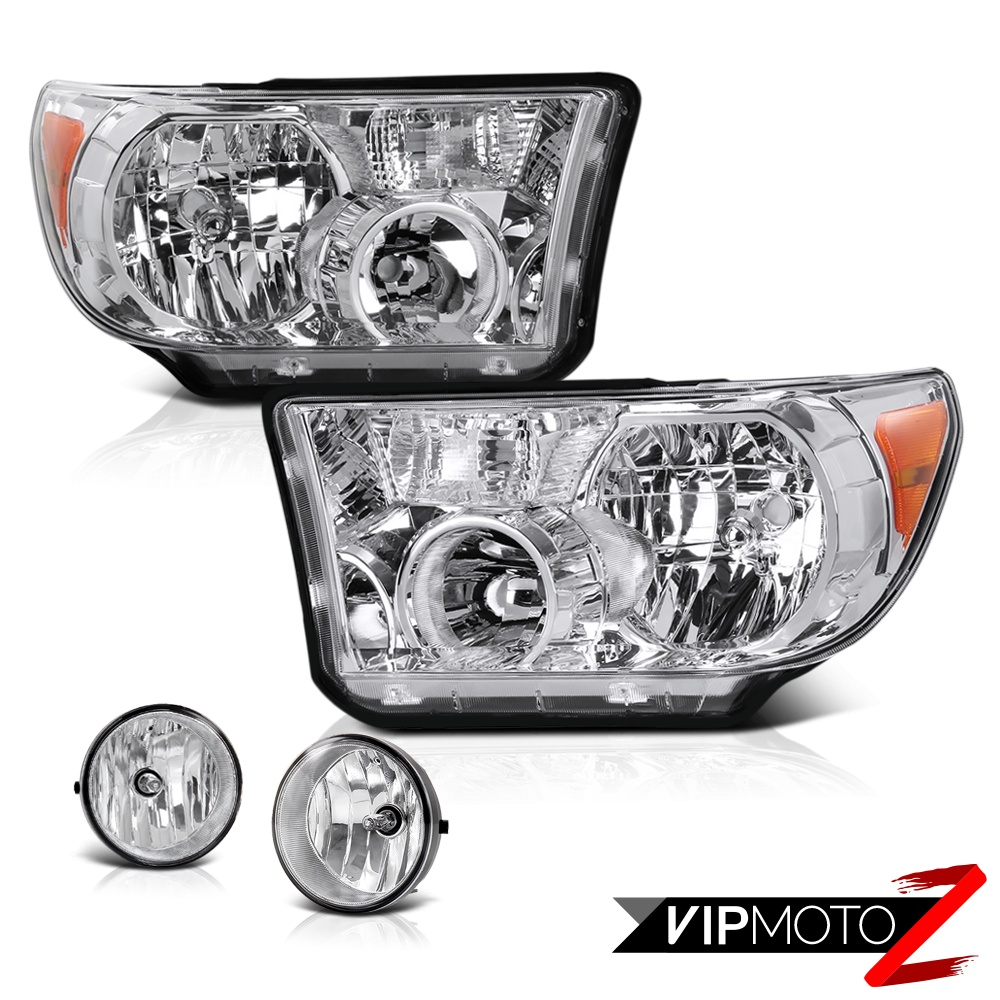 toyota 07 13 tundra crystal clear headlight lamp clear fog. Black Bedroom Furniture Sets. Home Design Ideas