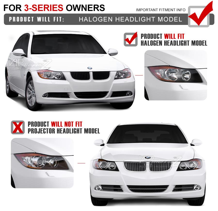 Bmw Xi 2012: 2006-2008 BMW E90 3-Series Sedan Black LED Angel Eye Halo