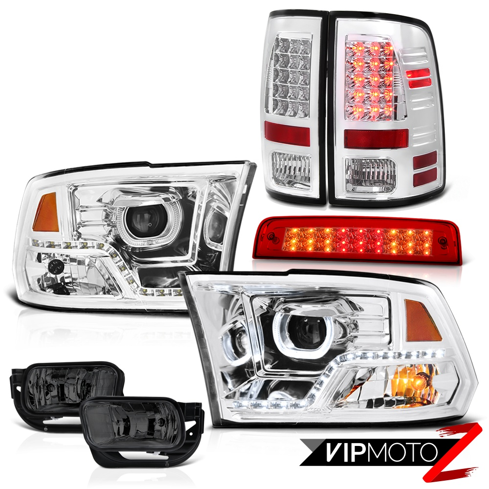 09-18 Dodge RAM 2500 Head Light Red Brake Lights Smokey