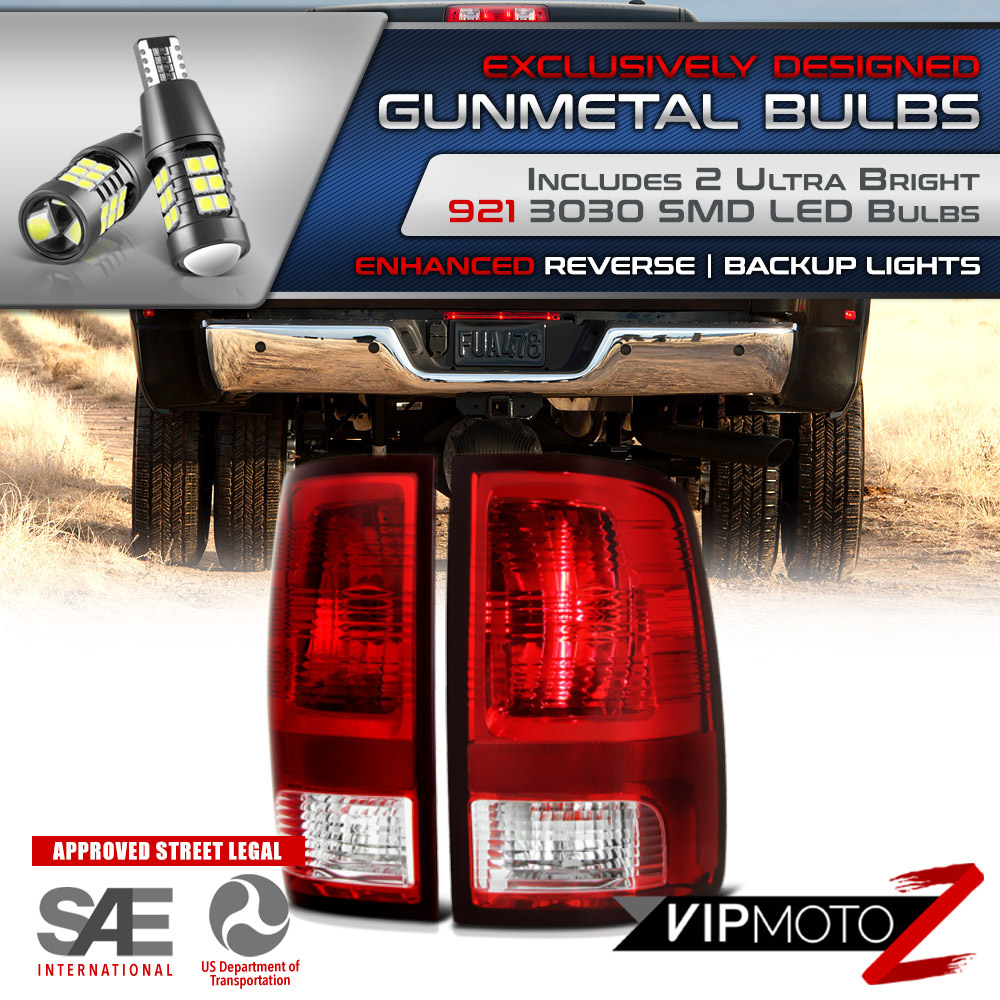 Superior LED Bulb Reverse Red Direct Fit Tail Light Brake Lamp 09-18 Dodge Ram