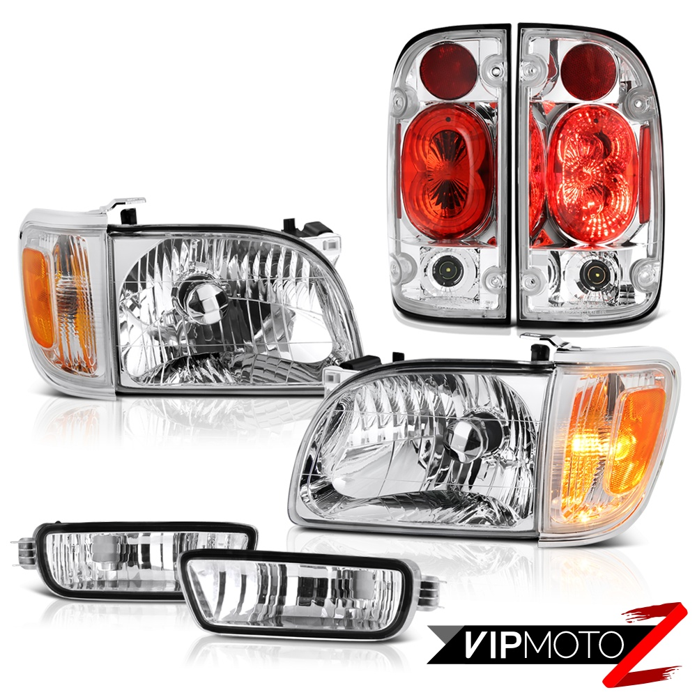 For 01-04 Toyota Tacoma 4WD Clear chrome taillights headlights bumper Assembly